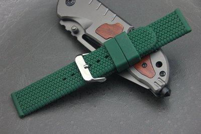 軍綠色輪胎紋~20mm~直身矽膠錶帶,潛水錶造型錶超fit呦!seiko hamilton