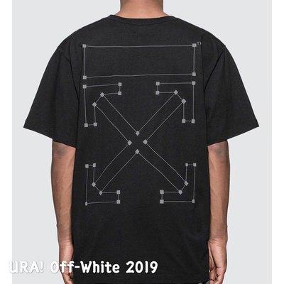 【URA 全新現貨】 2019 Off-White 3M反光 Back Bone T-Shirt 軌跡 短Tee