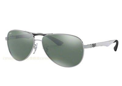 {都會眼鏡} Ray Ban 雷朋原廠正品 RB8313 003/40 碳纖維 銀框 水銀鏡片 雷朋碳纖維太陽眼鏡