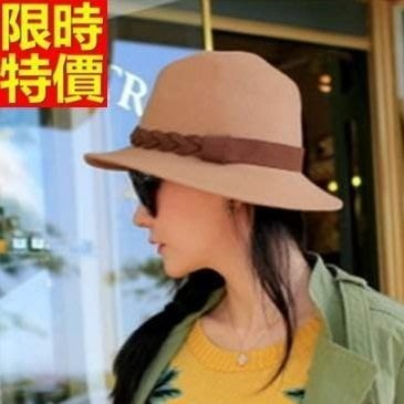 爵士帽 小禮帽-春夏新款平檐粉色羊毛呢百搭女帽子2色67e50[獨家進口][米蘭精品]