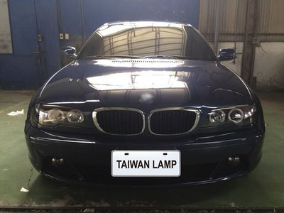 《※台灣之光※》全新寶馬BMW 03 04 05 06年2門2D E46 318CI 325CI雙光圈黑底投射大燈組