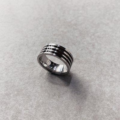 【inSAne】訂製款 / 三線 / 造型 / 鋼戒 / 戒指 / 飾品 / 單一尺寸 / US8
