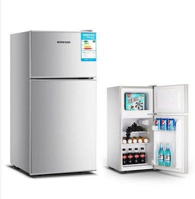 『格倫雅品』WORKDOG/沃科 雙門108/118升小冰箱家用小型靜音節能宿舍冷藏冷凍