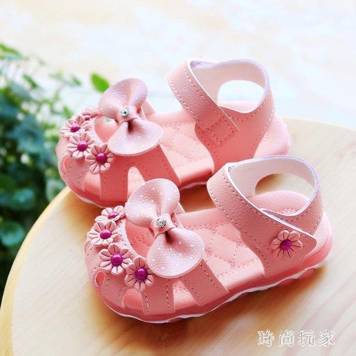 夏季韓版嬰幼兒童學步鞋1-3歲小公主軟底包頭寶寶涼鞋女 st3971