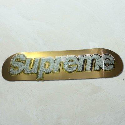 【車庫服飾】SUPREME BLING LOGO DECKS 2013 金銀 兩色一組  經典收藏滑板