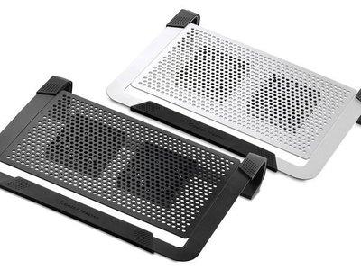 小白的生活工場*Coolermaster NotePal U2 Plus 全鋁散熱墊(黑/銀 二色可以選)(雙風扇)支援14 ~ 17~