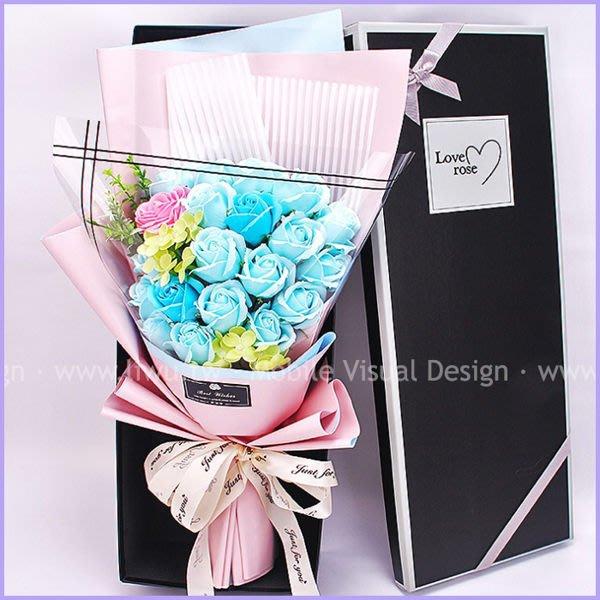LoveRose情人節玫瑰香皂花束-永恆藍(精美盒裝)(限宅配) 情人節禮物 生日禮物 結婚禮物