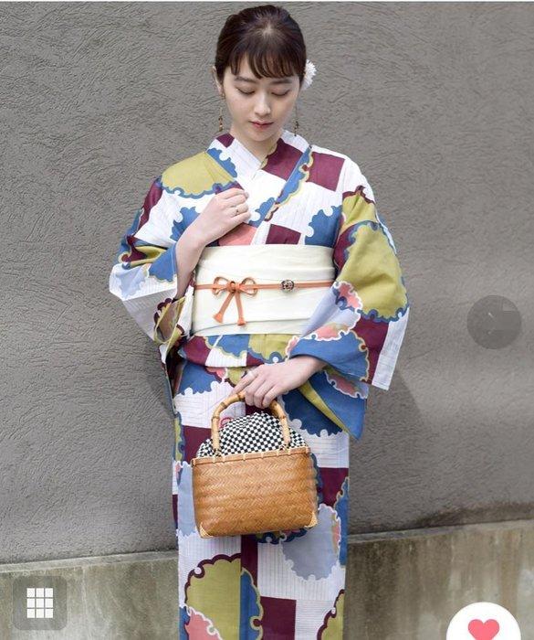 01日本和服浴衣全棉 古典花色 單件衣服