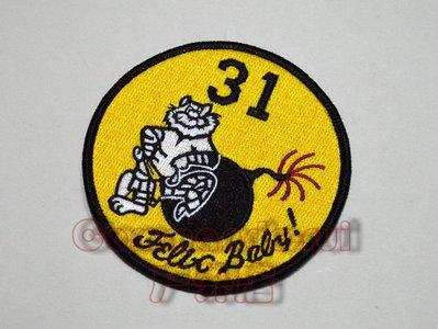 收藏品 FELIX BABY!VF-31雄貓人 F-14 TOMCAT吉祥物紀念徽章