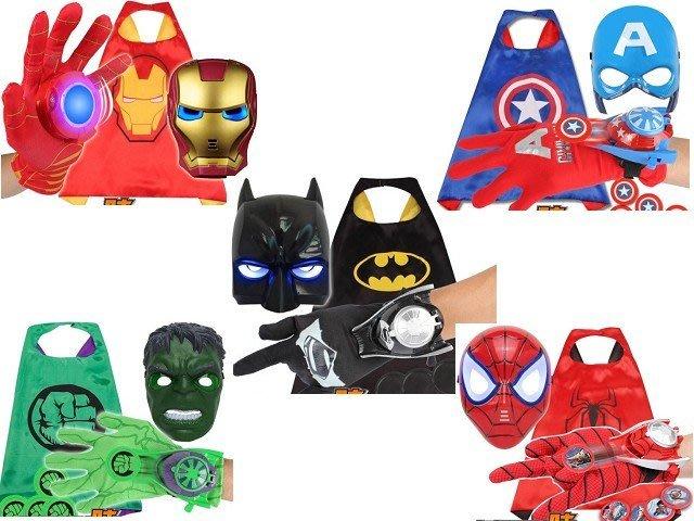 萬聖節兒童美國隊長披風超人服裝表演出玩具發光面具護盾牌玩具披肩斗篷 ☆百變花 yang☆