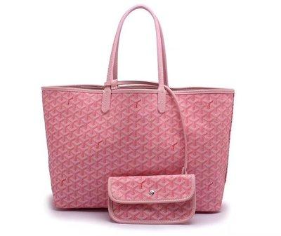 凱莉代購 GOYARD 粉色 新款加厚纖維子母包 購物單肩包 媽咪包王菲舒淇同款購物袋 大號 預購