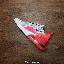 Nike Air Max 270 桃紅 經典 氣墊 休閒運動慢跑鞋 AH6789-101 女鞋