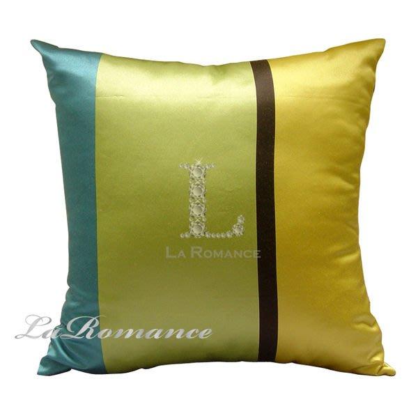 【La Romance 芮洛蔓】雙面花色抱枕 - 藍配綠 / 靠枕 / 靠墊