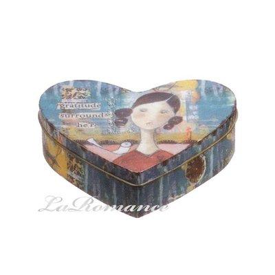 【Heart & Home】Kelly Rae Roberts 心戀家居系列鐵製心形收納盒 - 中 (gratitude surrounds her)