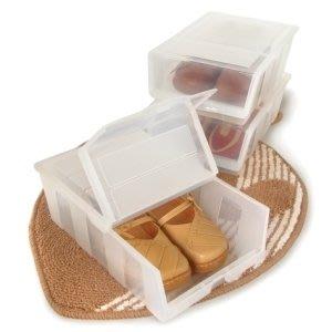 315百貨~P50038 P5-0038 全家鞋盒(6入) /透明鞋盒 直取式鞋盒 可堆疊設計 鞋子收納 置物盒 塑膠盒