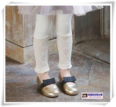 •*~ 辣媽咪衣飾小舖 ~*•❤童裝系列❤N530193韓版加絨加厚蕾絲拼接純棉不倒絨內搭褲