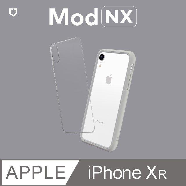 犀牛盾Mod NX 邊框背蓋二用手機殼 for iPhone XR 淺灰色
