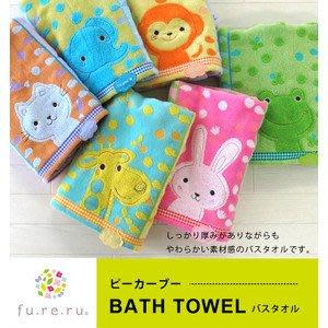 日本 可愛動物彩點 大象/兔子 長毛巾