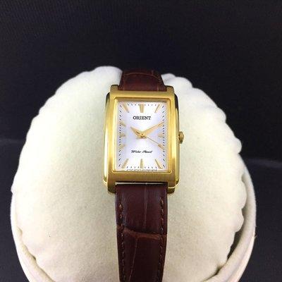 日本進口 東方 ORIENT 戀戀方寸方形時尚腕錶 FUBUG004W 女錶 (免運)