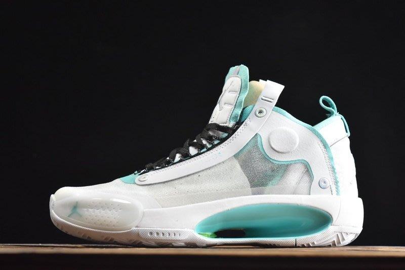 "Air Jordan XXXIV""Eclipse""AJ34 白綠 百搭 中幫 籃球鞋 BQ3381-103 男鞋"