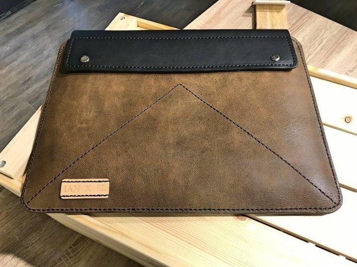 【IAN X EL】手工真皮Apple MBPR 13吋筆電手拿包 / 內袋包 提供免費印字 純手工皮件