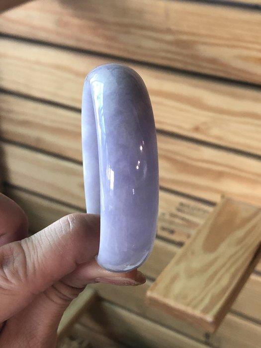滿紫芋紫紫羅蘭|A貨緬甸玉翡翠手鐲 玉質細膩橢圓鐲!小手圍17 [購買多年.讓藏]