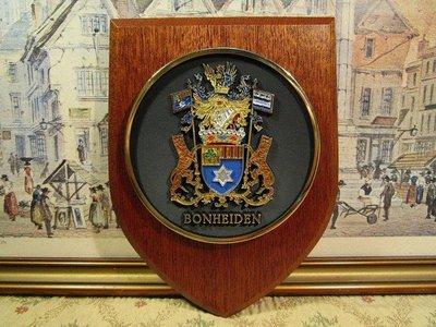 歐洲古物時尚雜貨 比利時BONHEIDEN 獎章 徽章 紀念章 掛飾 軍中徽章獎章識別牌 擺飾品 收藏品