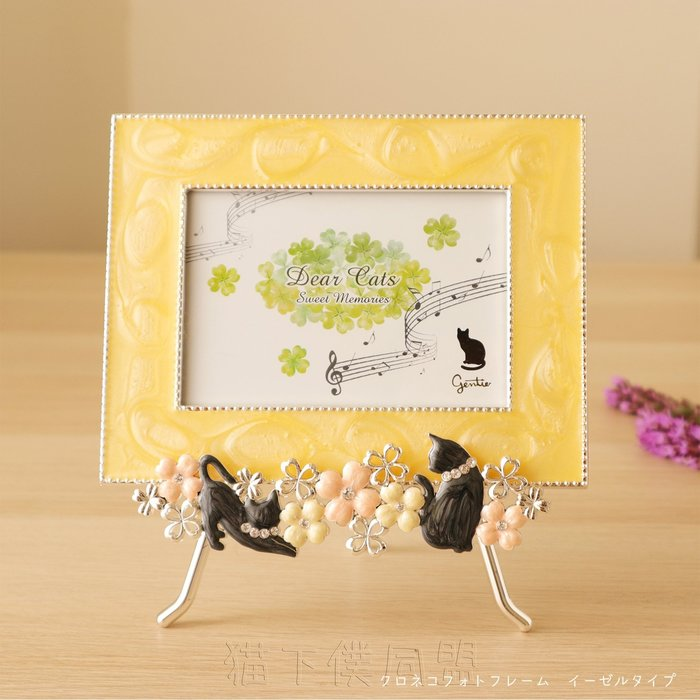 【貓下僕同盟】日本貓雜貨 可愛黑貓四葉幸運草相框 畢業 結婚 情人節 生日禮物 結婚紀念物 房間布置桌面裝飾