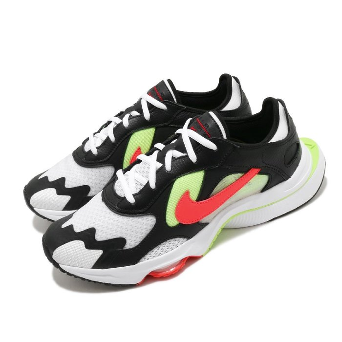 =CodE= NIKE AIR ZOOM DIVISION 皮革網布慢跑鞋(黑白橘綠) CK2946-001 老爹鞋 男