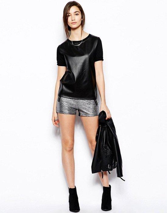 現貨UK 12  UK10 英國品牌 銀黑色銀蔥熱褲短褲 正品代購 原價兩千多喔
