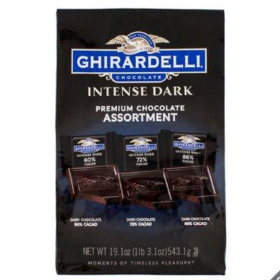 Ghirardelli 黑巧克力綜合包 - 3種口味 (51入) 543.1 公克 costco 好市多 巧克力