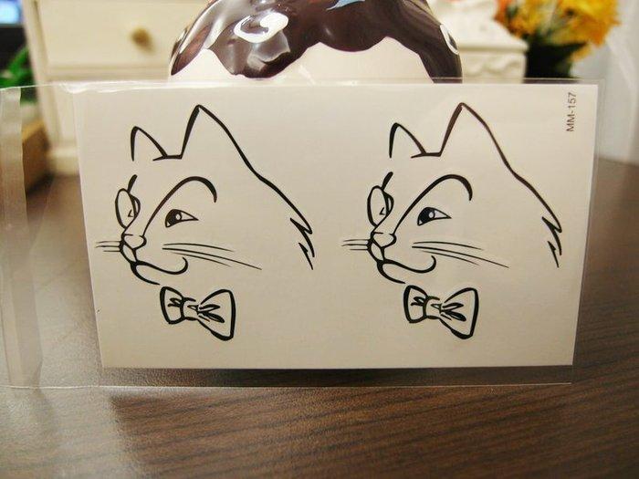 【萌古屋】限量紳士貓 - 男女防水韓風簡約紋身貼紙原宿刺青貼紙K43