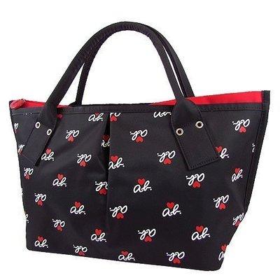 全新 Agnes b.  黑色 紅色內袋 水餃包(小) 手提包 ab愛心 日本製 屏東縣