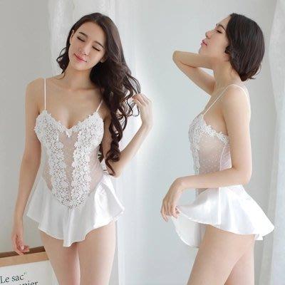 性感睡衣 創意性感 誘惑情趣睡衣女性感騷短裙透明極度誘惑火辣蕾絲內衣服小胸吊帶套裝女