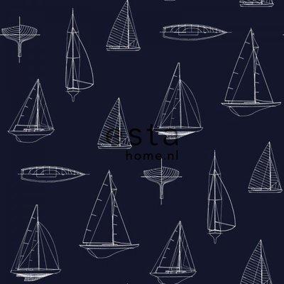 【Uluru】歐洲期貨壁紙.童趣 boats 船 帆船 海洋 海軍風 兒童房 壁紙 HE107系列