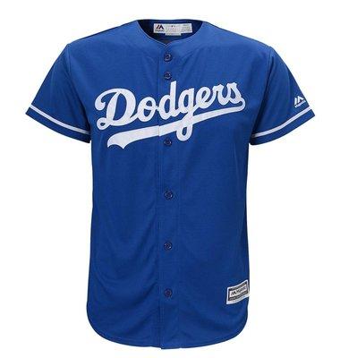 MLB 美國大聯盟 Majestic 正品 洛杉磯道奇隊 客埸藍色 棒球衣