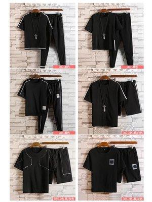 現貨/一套】男士夏季正韓短袖t恤運動套裝青少年休閒帥氣衣服潮流男裝98SP5RL/ 最低促銷價