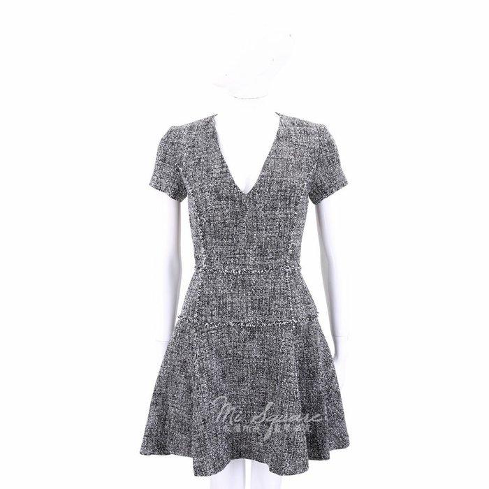 米蘭廣場 MICHAEL KORS 黑x白色V領短袖洋裝 1710521-37
