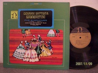 【Nonesuch LP名盤】2171.薩瑪提尼:5首交響曲,Jenking/米蘭Angelicum管弦樂團