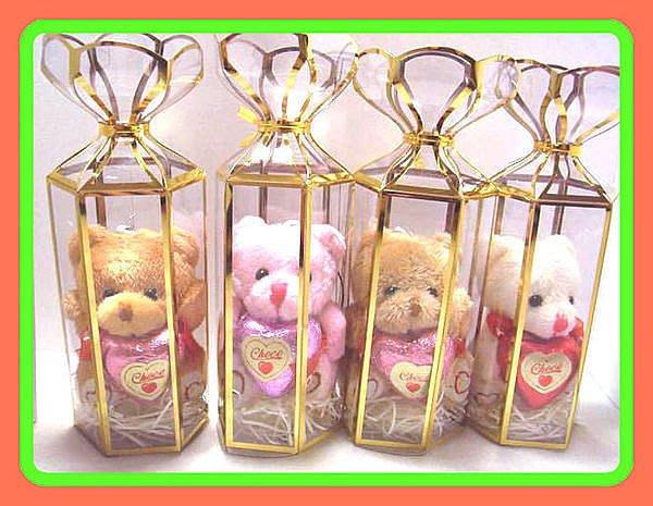 精緻禮兩款長毛熊手機吊飾&巧克力&燙金盒/結婚禮小物/二次進場/聖誕節/情人節/手工皂/送客禮/贈品