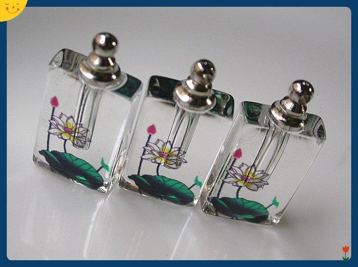 【雅之賞 藏傳 佛教文物】特賣*水晶瓶 /香水瓶 /舍利瓶 (3個) 吊飾 (附膠皮繩)~Q1270