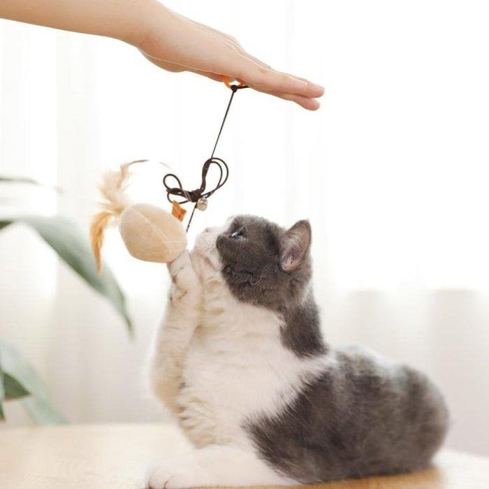 逗貓棒羽毛鈴鐺仿真老鼠幼貓斗貓棒