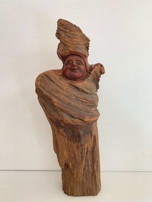 北極星的店~~~~~彌樂佛紅豆杉原木雕