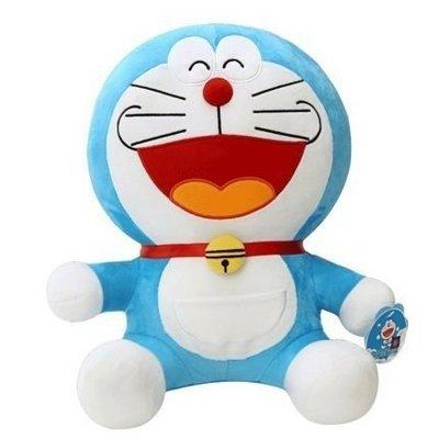 【QQ公仔物語】【DB035】【現貨】多啦A夢 Doraemon 20cm 絨毛娃娃 歡樂款 滿千免運