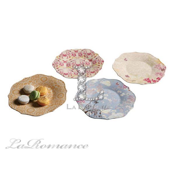 【Creative Home】Cottage Chic 法式田園系列陶瓷花邊點心淺盤 / 盤子 / 置物盤 / 擺飾盤