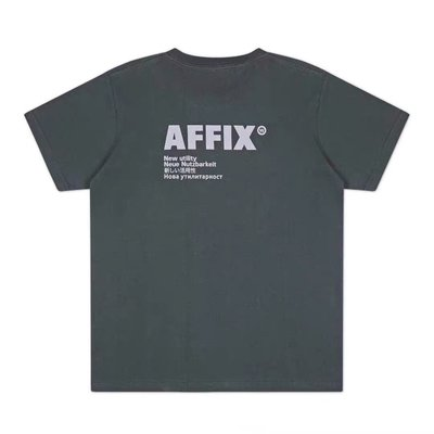 AFFIX 20SS BASIC LOGO新款短袖T稀有灰綠色關聯KIKO