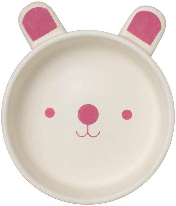 日本陶瓷【石垣】小狗/小兔 陶盤 烘培烤盤 兒童餐碗 陶碗 寵物用品 可微波 烤箱