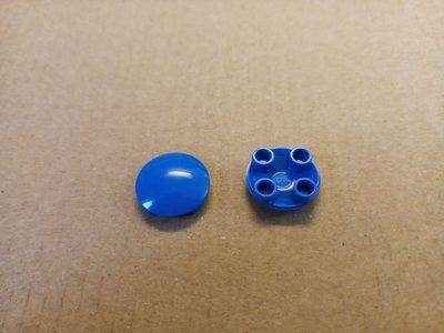 全新 Lego 散件 藍色 Slide Shoe Round 2X2 (4278276) 2pcs