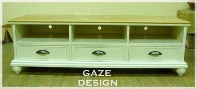 GAZE DESIGN匠司.傢俬設計/美式風格手工家具/雙色經典電視櫃/實木家具訂做