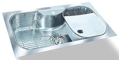 御舍精品衛浴 德國PAIDOK PDK330T 系統廚具中島吧台廚房不鏽鋼大單槽水槽 附滴水籃+橢圓桶